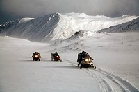 Snowmobile excursion from Honningsvag to Helnes lighthouse in Barents Sea with Destinasjon 71º Nord. Finnmark. Lapland. Norway.