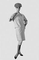 moda, modello givenchy, 1956