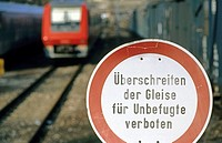 Prohibition-sign, German track, Germany
