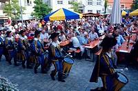 Wine, festival, Meersburg, Lake, Constance, Baden-Wurttemberg, Germany,