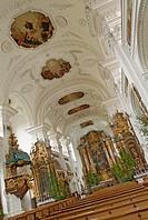 Parish, church, former, monastery, church, Irsee, Bavaria, Germany,