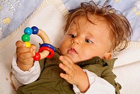 Baby, with, toy,