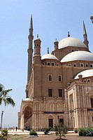 The landmark Mohammed Ali mosque (Alabaster mosque) on top of Saladin Al Aywbi citadel in Cairo, Egypt