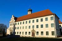 Monastery, Monchsdeggingen, Donau-Ries, Swabia, Bavaria, Germany, Mönchsdeggingen,