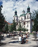 St , Nicholas, Church, Old, Town, square, Lesser, Town, Prague, Czechia