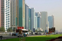 Office buildings at Sheikh Zayed Road-, Dubai, United Arab Emirates