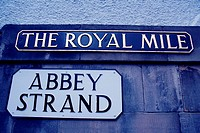 Abbey Strand, The Royal Mile, Edinburgh. Scotland, UK