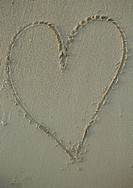 Heart Drawn in the Sand  Western Cape Province, South Africa