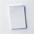 Note Pad on a White Background  Studio Shot