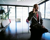 African Businessman on a Mobile Phone  Cape Town, Western Cape Province, South Africa