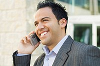 Businessman with cell phone (thumbnail)
