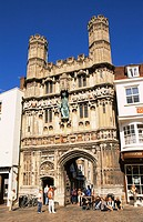 England, Kent, Canterbury, Canterbury Cathedral, Christchurch Gate