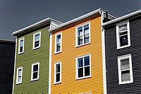 Colorful houses in St. John's City, Newfoundland, Canada