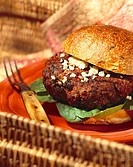 Hamburger with Crumbly Cheese