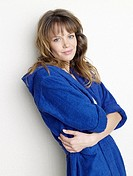 Woman in blue bathrobe (thumbnail)