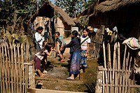Laos, Asia, Miao, Minority, Hmong people, Village, Huts, Fun, Children, Playing, Southeast asia