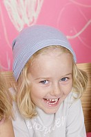 Blond girl wearing a headscarf (thumbnail)