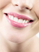 Woman´s mouth smiling