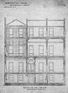 Architectural plans of part of the west wing of Burlington House, Piccadilly, London, UK  These premises were taken over by the Royal Astronomical Soc...