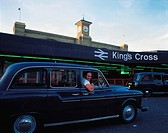 Travel, United Kingdom, England, London, King´s Cross station, Taxi driver,