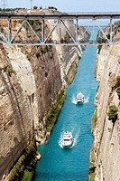 Two boats. Corinth Canal. Greece