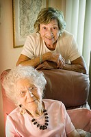 90 and 100 year old women