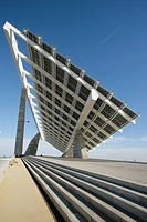 Photovoltaic pergola (3700 m2), Forum 2004, Diagonal Mar area, Barcelona. Catalonia, Spain