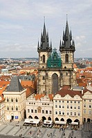 Tyn Church, The Old Town Square, Prague, Czech Republic