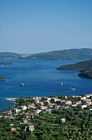 Greece, Ionian Islands, view over town of Nidri Lefkas