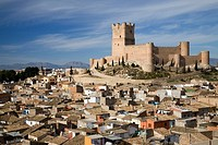 Villena and Villena Castle. Alicante. Spain.