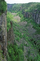 Ouimet Canyon Provincial Park, east of Thunder Bay, Ontario, Canada
