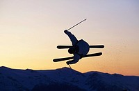 Aerial competition on Whistler mountain, British Colunbia, Canada