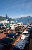 The Kootenay Bay - Balfour Ferry connects Highway 3A across Kootenay Lake, forming an alternative route between Creston and Castlegar, British columbi...