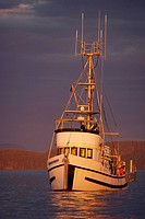 Fishing boat off Northern Vancouver Island, British Columbia, Canada