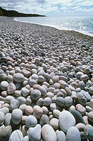 Cobbles and Lake Superior Pebbles Beach, Marathon, Ontario, Canada