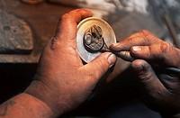Queen Charlotte Islands, Haida Gwaii, Haida artisan Myles Edgars, British Columbia, Canada
