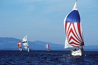 recreational sailing near Sidney/Victoria, Vancouver Island, British Columbia, Canada