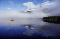 Canoeing on the Turner lakes, Tweedsmuir Park, British Columbia, Canada