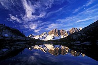 Reflection Nabob Pass, Mount Marcus and Merlon, British Columbia, Canada