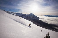 Snow Cat skiing, Mount McKenzie, Revelstoke, British Columbia, Canada