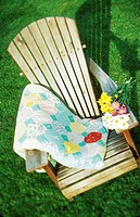 Adirondack Chair and Blanket