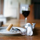 Place Setting with Wine Glass and Fish Corkscrew