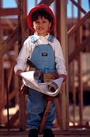 Little Boy In Construction Outfit