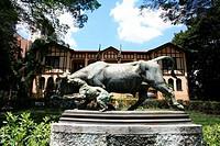 statue of ox, Agua Branca park, São Paulo, Brasil