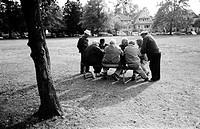 Men playing Cards in a Park, East Vancouver, British Columbia