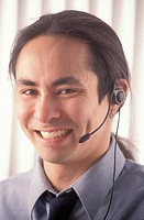 Happy Telemarketer