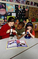 Young Students in Science Class, Toronto, Ontario