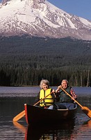 Older Couple Canoeing