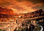 Sunset, Coliseum Ruins, Rome, Italy