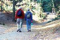 Old Couple Hiking Together